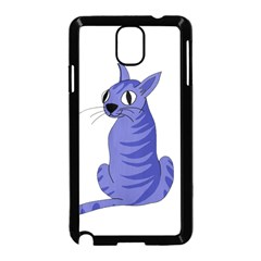 Blue Cat Samsung Galaxy Note 3 Neo Hardshell Case (black)
