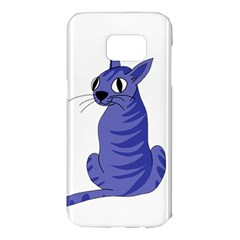 Blue cat Samsung Galaxy S7 Edge Hardshell Case