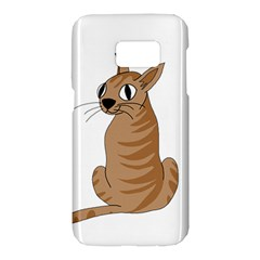 Brown cat Samsung Galaxy S7 Hardshell Case
