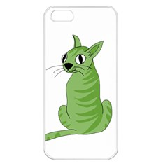 Green Cat Apple Iphone 5 Seamless Case (white)