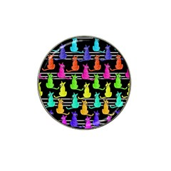 Colorful Cats Pattern Hat Clip Ball Marker (10 Pack)
