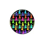 Colorful cats pattern Hat Clip Ball Marker (10 pack) Front