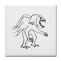 Monster Bird Drawing Tile Coasters