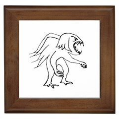 Monster Bird Drawing Framed Tiles