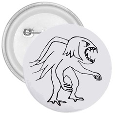 Monster Bird Drawing 3  Buttons