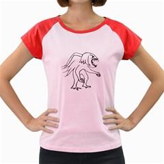 Monster Bird Drawing Women s Cap Sleeve T-Shirt