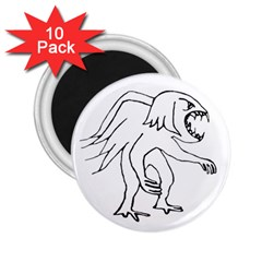 Monster Bird Drawing 2.25  Magnets (10 pack)