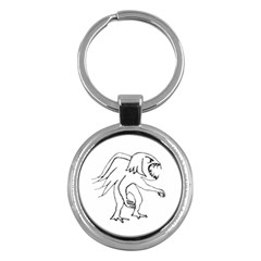 Monster Bird Drawing Key Chains (Round)