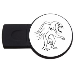 Monster Bird Drawing USB Flash Drive Round (2 GB)