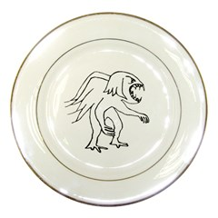 Monster Bird Drawing Porcelain Plates