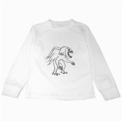 Monster Bird Drawing Kids Long Sleeve T-Shirts