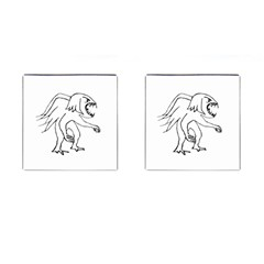 Monster Bird Drawing Cufflinks (Square)