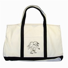 Monster Bird Drawing Two Tone Tote Bag
