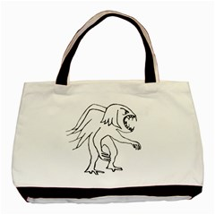 Monster Bird Drawing Basic Tote Bag (Two Sides)