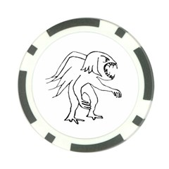 Monster Bird Drawing Poker Chip Card Guards