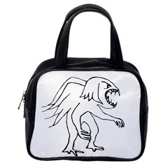 Monster Bird Drawing Classic Handbags (One Side)