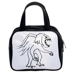 Monster Bird Drawing Classic Handbags (2 Sides)