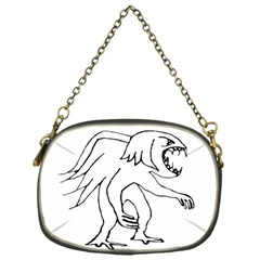 Monster Bird Drawing Chain Purses (One Side)