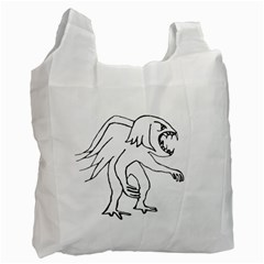 Monster Bird Drawing Recycle Bag (Two Side)