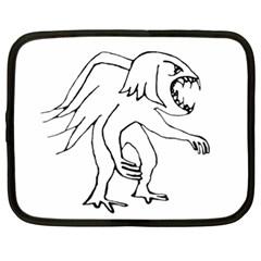 Monster Bird Drawing Netbook Case (XL)