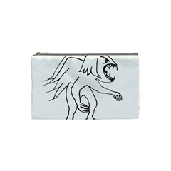 Monster Bird Drawing Cosmetic Bag (Small)