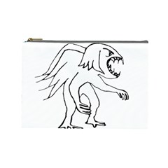 Monster Bird Drawing Cosmetic Bag (Large)