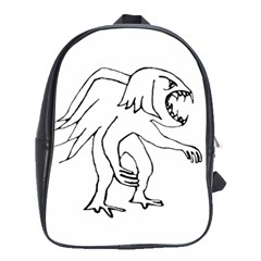 Monster Bird Drawing School Bags(Large)
