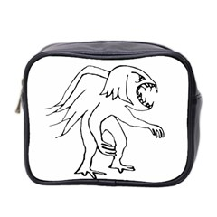 Monster Bird Drawing Mini Toiletries Bag 2-Side