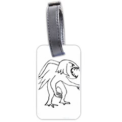 Monster Bird Drawing Luggage Tags (Two Sides)