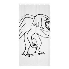 Monster Bird Drawing Shower Curtain 36  x 72  (Stall)