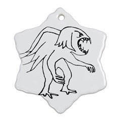 Monster Bird Drawing Ornament (Snowflake)