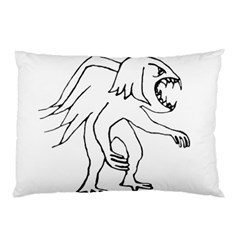 Monster Bird Drawing Pillow Case (Two Sides)
