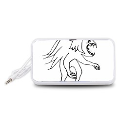Monster Bird Drawing Portable Speaker (White)