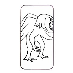 Monster Bird Drawing Apple iPhone 4/4s Seamless Case (Black)