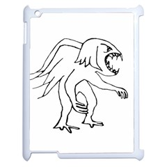 Monster Bird Drawing Apple iPad 2 Case (White)