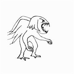 Monster Bird Drawing Small Garden Flag (Two Sides)