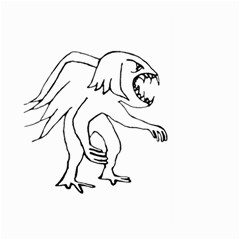 Monster Bird Drawing Large Garden Flag (Two Sides)