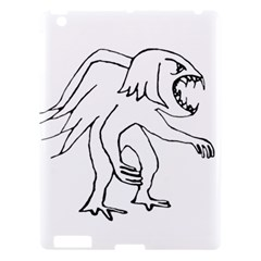 Monster Bird Drawing Apple iPad 3/4 Hardshell Case