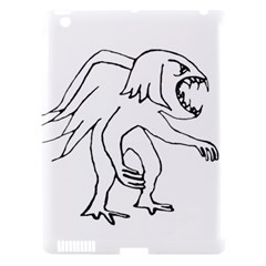 Monster Bird Drawing Apple iPad 3/4 Hardshell Case (Compatible with Smart Cover)