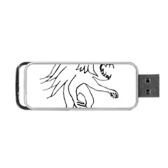 Monster Bird Drawing Portable USB Flash (One Side)