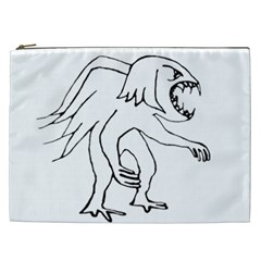 Monster Bird Drawing Cosmetic Bag (XXL)
