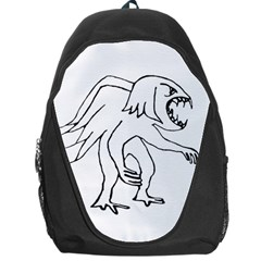 Monster Bird Drawing Backpack Bag