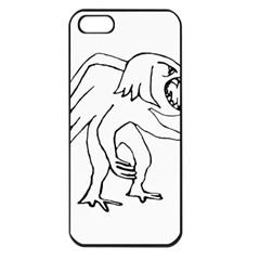 Monster Bird Drawing Apple iPhone 5 Seamless Case (Black)