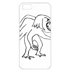 Monster Bird Drawing Apple iPhone 5 Seamless Case (White)