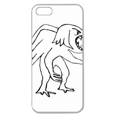 Monster Bird Drawing Apple Seamless iPhone 5 Case (Clear)