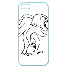Monster Bird Drawing Apple Seamless iPhone 5 Case (Color)