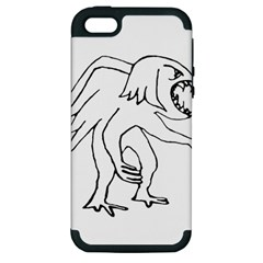 Monster Bird Drawing Apple iPhone 5 Hardshell Case (PC+Silicone)