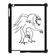 Monster Bird Drawing Apple iPad 3/4 Case (Black)