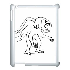 Monster Bird Drawing Apple iPad 3/4 Case (White)