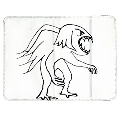 Monster Bird Drawing Samsung Galaxy Tab 7  P1000 Flip Case